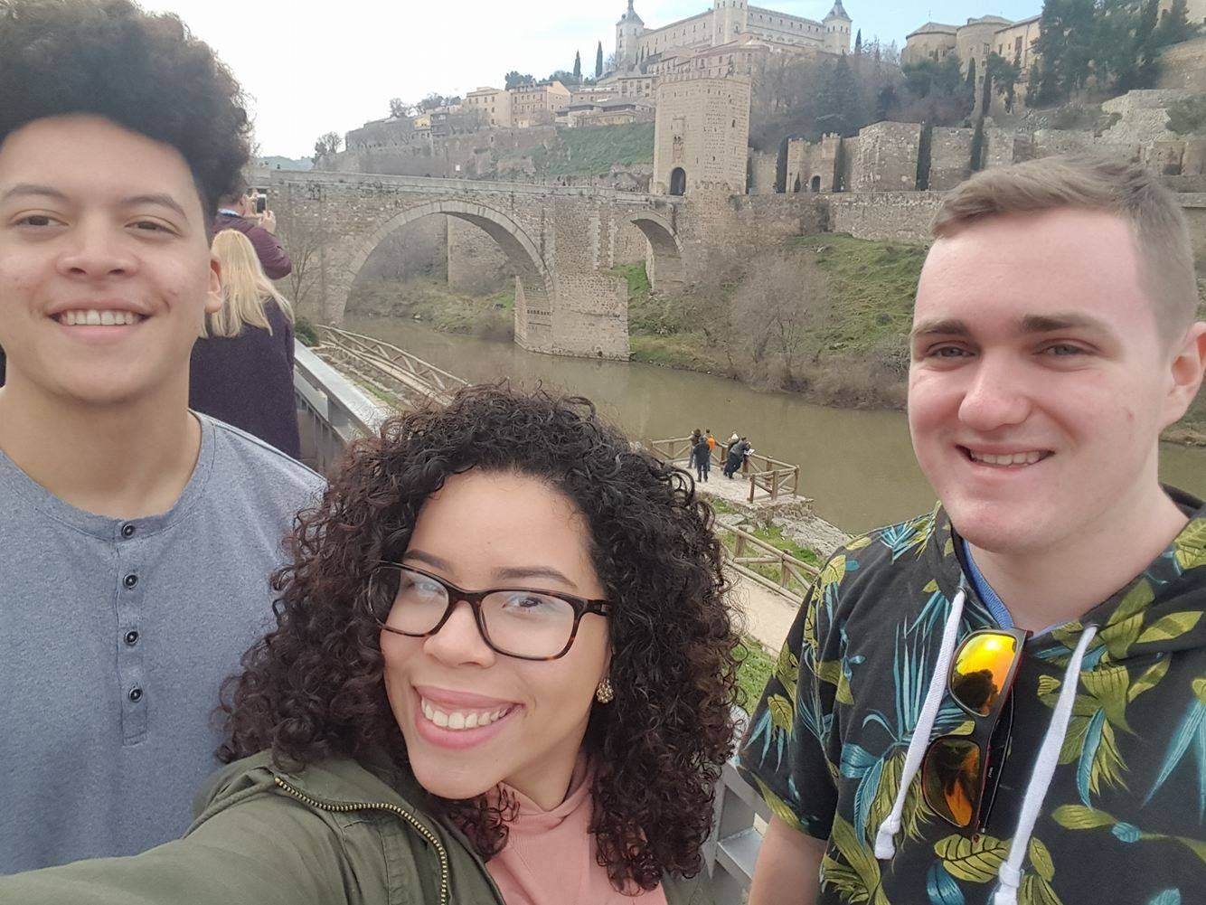 John Kenney, Paola Rivera Villafañe, and Tristan Beaulieu in Toledo, Spain