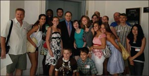 History Day finalists and their teachers with Patrick May and Congressmen Paul Hodes.